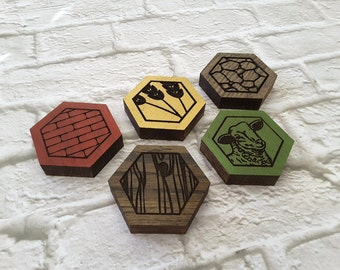 Settlers of Catan Coasters, Game Board Coasters