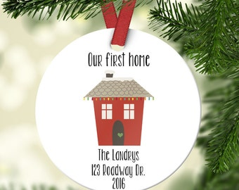 Our First Home Ornament, Home Ornament, Personalized Ornament, Our First Home Gift, Our First Home, Couples Christmas Ornament