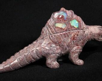 Opal Rhyolite Dimetrodon Carving - Mexico