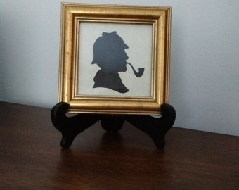 Framed Silhouette Print from Scotland, Hand Cut Framed Silhouette from Scotland