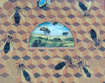 Kit Williams' Bee Book, The Untitled Book, The Bee On The Comb - Hidden Picture, Puzzle Challenge, Treasure Book