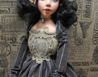 """OOAK art doll """"Edna"""""""