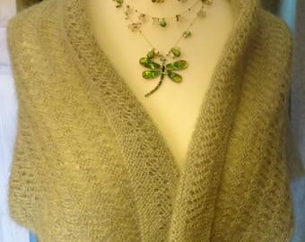 Moss Green Lace Shawl