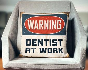 Dentist Gift | Dentist Graduation | Gift for Dentist | Dentistry | Dentist Office | Dentistry Student | Dentist Pillow | Dentistry Decor