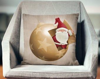Holiday Pillows | Santa Pillows | Christmas Pillow Cover | Festive Pillow | Holiday Throw Pillow | Santa Pillow Cover | Santa Throw Pillow