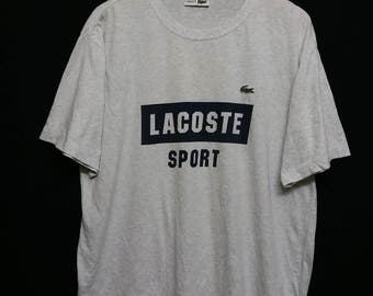 80s-90s//Lacoste Sport//T-Shirt Size 5(L)//Spell Out//
