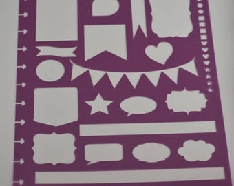 Stencil for the BIG Happy Planner