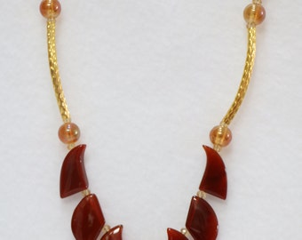 Red Agate necklace 20 inches  N-5037