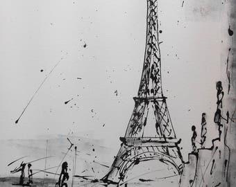 """Painting  """"Paris Tour Eiffel"""""""