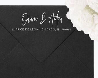 Return Address Stamp, Self-Inking Address Stamp, Personalized Address Stamp - Custom Address Stamp Style, Wedding Stamp, Custom Stamp, RA06A