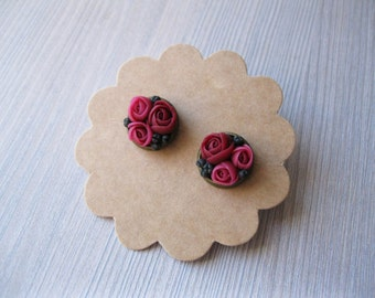 Cute earrings for Girls earrings Birthday gift/for/daughter gift/for/niece gift Pink stud earrings Rose stud earrings Small earrings studs