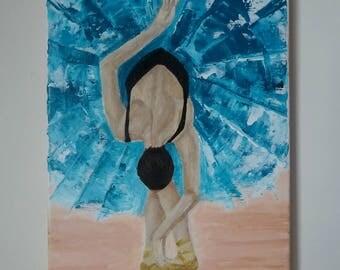 Ballerina Painting Canvas Original Dancer Ballet Modern Painting Palette Knife