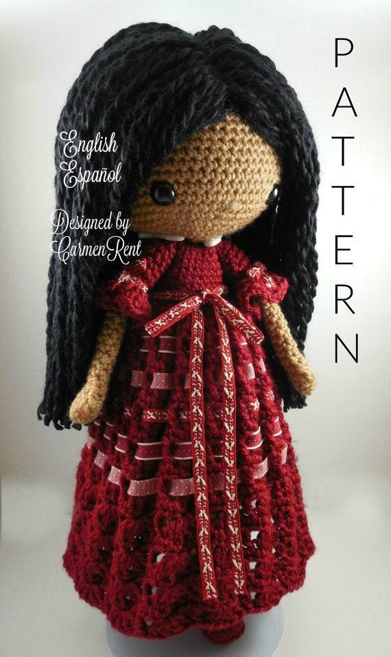 Angela Amigurumi Doll Crochet Pattern Pdf