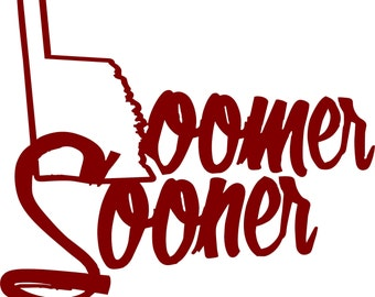 Oklahoma Sooners Decal, OU, Boomer Sooner Car/Window/Cup Decal