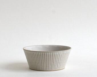 Trapezoid Shinogi Bowl (White) ; Koji Kitaoka (15005707-T-MSW)