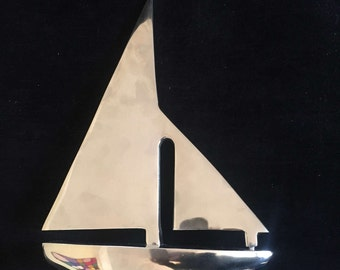 Aluminium sculpture yacht sailing boat