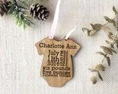 Custom Onesie Baby's First Christmas Ornament