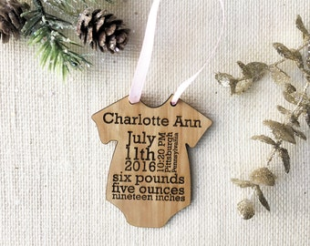 Custom Onesie Baby's First Christmas Ornament