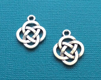 10 Knot Charms Silver Celtic Knot Charm - CS2706