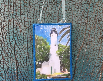 Key West Lighthouse - Mini Canvas – Key West, FL - Lighthouse Series - Gift – Ornament