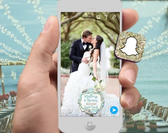Beach Snapchat Filter for Wedding, Quinceanera, Bridal Shower or other special event! Custom Text - Sea Shells & Sea Life  Geofilter Design