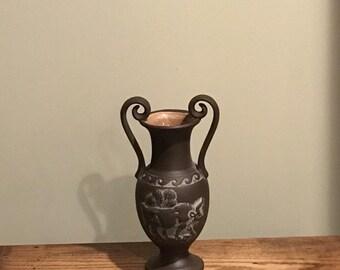 Vintage Greek-inspired Pottery Chocolate Brown Matt Finish.