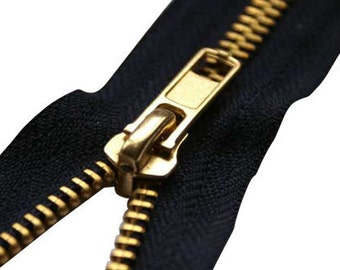 Pack of 5 - Metal Jeans zips in variety of colours & lengths(from 59p per zip).