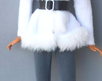 Barbie clothes - winter coat, leggins - Fashion royalty doll clothes, Doll clothes