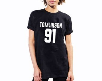 Tomlinson 91 Shirts / Louis Tomlinson / One Direction Shirts / One Direction / Louis Tomlinson 1D / 1D Merchandise / Pop Culture Shirts/MS20