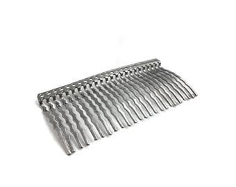 Hair Comb Blank, 24 Teeth, 23 Holes For Beading, Wedding, Bridal, Wholesale, 36x75mm, 2pcs