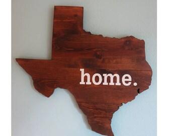"""Texas """"Home"""" Sign"""
