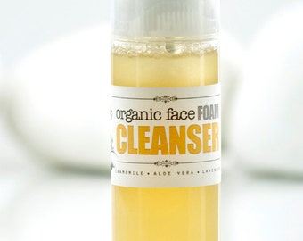 FACE FOAM CLEANSER ~ Organic Facial Foam Wash for sensitive skin.