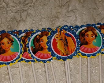 Elena of Avalor Cupcake Toppers!  Set of 12!
