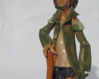 Bianchi Sciacca pottery figurine