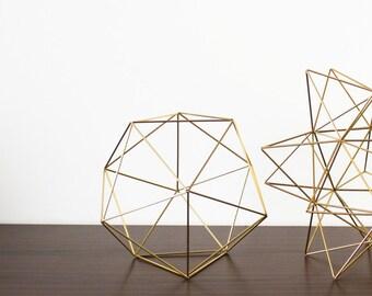 Geometric Sculpture, Hanging Mobile, Air Plant Holder, Sacred Geometry, Himmeli, Minimalist