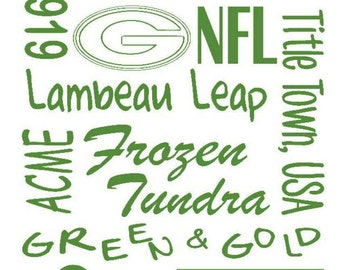 Green Bay Packers cutting file for Silhouetteand Cricut/svg/Studio 3/png/dxf/jpg/Subway Sign