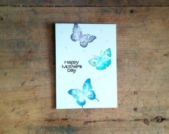 MOTHERS DAY BUTTERFLIES -   Sweet // Special // Pretty // Eco Friendly // Happy Mother's Day // Silver // Purple // Teal // Blue // Mom