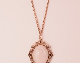 Vintage White Stone Necklace