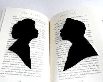 Lucy & Desi Bookmark Set | I Love Lucy | Hand-Cut Silhouette