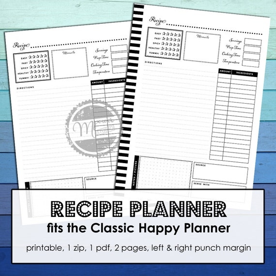 Impertinent image inside happy planner recipe printable