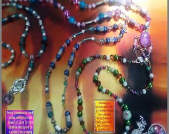 Art Jewel Necklace Handmade Jewelry Gifts - Shocked Indescretion Set