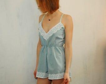 Mint jumpsuit for sleep