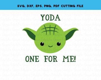 Yoda Star Wars Valentine SVG Dxf Eps Pdf PNG