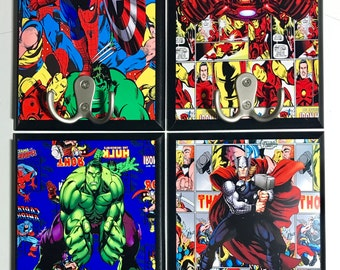 Superhero Marvel Avengers 5x7 wall decor with double hook multiple characters available