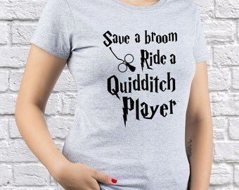 Harry Potter Quidditch Player/ womens T-shirt/ Girl shirt / HP Quidditch/ Quidditch tshirt/ Quidditch Game/ HP tee/ Any occasion gift/(HP09)