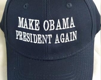 Make Obama president again baseball cap, political saying caps, political movement cap, Obama president again apparel