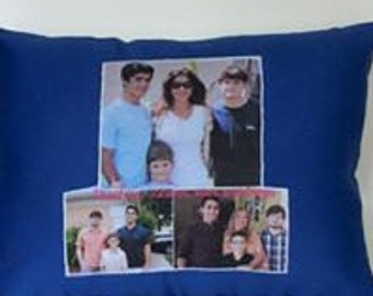 "Custom Made Photo Pillow 12"" by 15'"