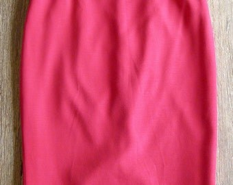 Vintage VERSACE COLLECTION raspberry pink pencil skirt