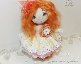 Textile author's handmade doll