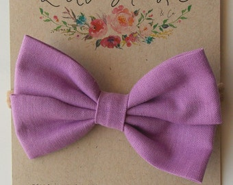 Piper Double Bow in Lilac